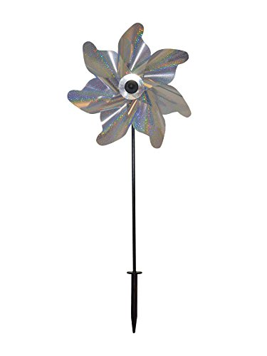 In the Breeze Silver Sparkle Pinwheel Spinner, 12-Inch