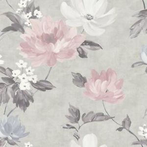 Renoir Blush/Grey Wallpaper from New A-Brend