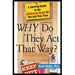 img - for WHY Do They Act That Way? by Walsh, David. (Free Press,2004) [Hardcover] book / textbook / text book