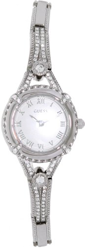 GUESS Women's Silver-Tone Petite Crystal Watch