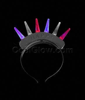 Unishow® Led Flashing Light Up Spike Mohawk Hairpin Hairband For Rave Christmas Birthday Party Halloween Custom Holiday (6, Hairpin)