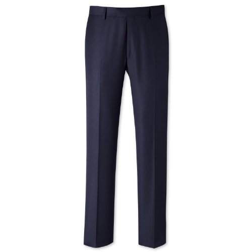 Charles Tyrwhitt Navy nailhead tailored fit travel suit trouser (42W x 32L)
