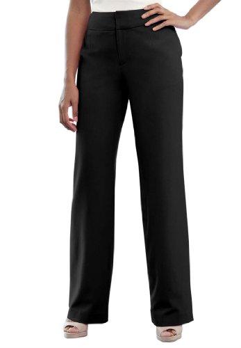 Джессика Лондоне женщины's Plus миниатюрный Размер Би-стрейч брюки черные,12 P