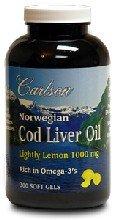 Carlson Lightly Lemon Cod Liver Oil 1000 mg