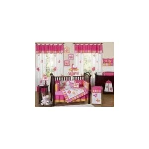 JoJo Designs Pink and Orange Butterflies Baby Bedding