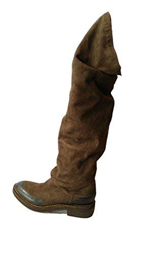 Stivale alto marrone scamosciato Vic Matiè tacco 4cm N.37