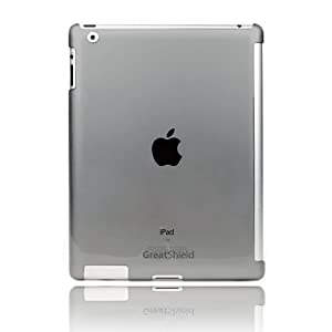 GreatShield Smart Cover Buddy Snap On Slim-Fit Case for New iPad 2012 Version / Apple iPad 2 (Transparent Smoke)