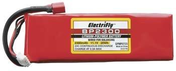 Great Planes LiPo 3S 11.1V 2300mAh 20C ElectriFly BP Series GPMP0723