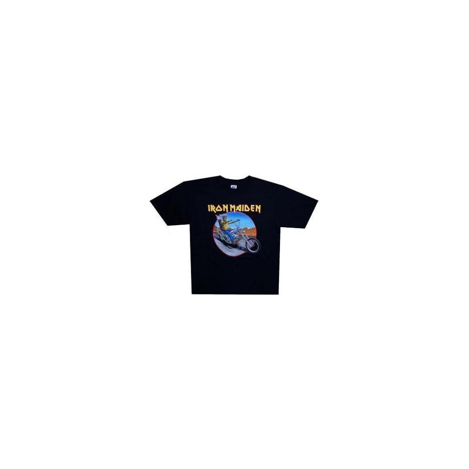 IRON MAIDEN   Biker 08 World Tour   Black T shirt   size Small Clothing