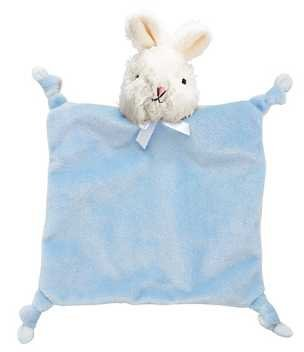First Friends Flatsie Blanket Pacifier Pal - Blue Bunny - 1