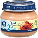 Gerber 2nd Foods Baby Foods Turkey & Turkey Gravy - 12 Pack