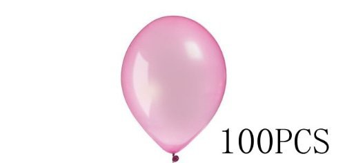 LEMO® iBUY365 12 Inch Pearl Pink Latex Party Balloons 100-Pack By iBUY365