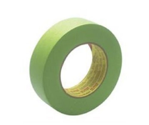 """3M 1-1/2"""" 233+ GREEN AUTO MASKING TAPE-4 Roll-PAINT CAR"""