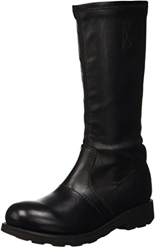 Bikkembergs Vintage 736 Boot W S.Leather/Leather, Scarpe a Collo Alto Donna, Nero, 37 EU