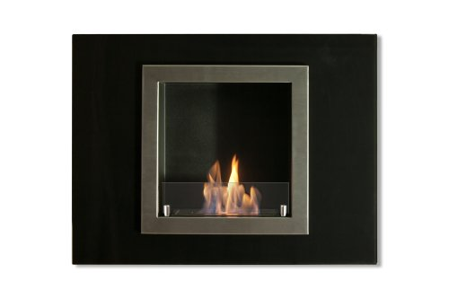 Ignis Ventless Bio Ethanol Fireplace Villa Mini - Recessed, Wall Mounted, With Optional Safety Glass Barrier (With Safety Glass Barrier)