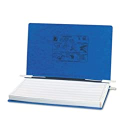 ACCO Products - ACCO - Pressboard Hanging Data Binder, 14-7/8 x 8-1/2 Unburst Sheets, Dark Blue - Sold As 1 Each - Top and bottom loading binder expandable for various sized projects. - Retractable storage hooks for single point or drop file hanging syste