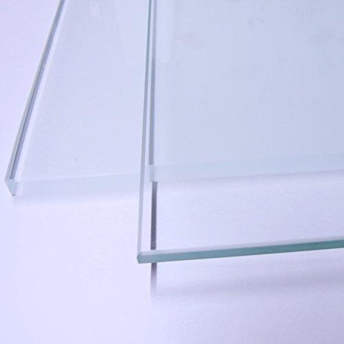 Glasboden Glasscheibe ohne Halterung für Glasregal Vitrine Regal Länge: 30cm Breite: 18cm klar Hochwertig! (8mm)