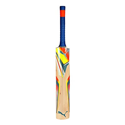 Puma X-Edge Kashmir Willow Cricket Bat with Cover, Long Handle (White)