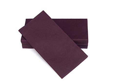Colored Napkins - PLUM - Decorative Dinner Napkins - Cloth Like and Disposable - Elegant & Durable - Soft & Absorbent - Versatile 16