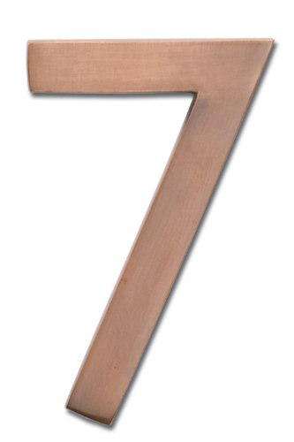 Architectural Mailboxes 3585AC-7  Brass 5-Inch Floating House Number 7, Antique Copper (House Numbers Copper compare prices)