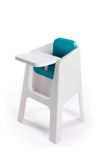 Hoppop Trono Highchair (White/Aqua)
