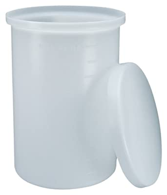 Nalgene 54100-0005 HDPE 19L Lightweight Laboratory Cylindrical Tank, with Cover