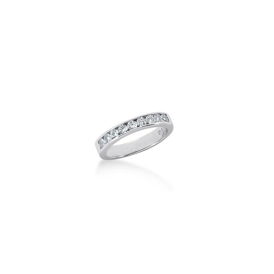 18K Gold Diamond Wedding Ring 9 Round Brilliant Diamonds 0.45 ctw. 213WR12318K   Size 9.75