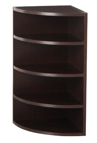 Foremost 328009 Modular Corner Radius Cube Storage System, Espresso