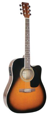 Johnson Jg-620-Ces 620 Player Series Cutaway Acoustic Electric Guitar, Sunburst