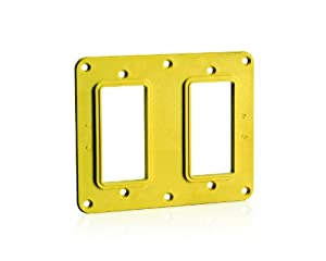 Leviton 3251-Y 2-Gang GFCI/Decora Receptacle Coverplate, Yellow