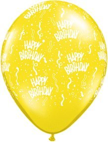 "11"" Citirine Yellow 12 Latex Balloon"