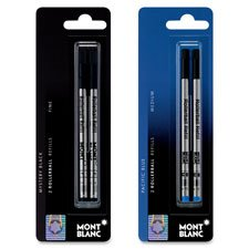 Mont Blanc Rollerball Pen Refill, Fine Pt, 2/PK, Blue  (MNB107882) (Fine Pens Made In Germany compare prices)