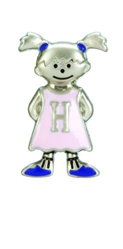 Mini My Kid's Initial Tag - Girl - H by Ganz