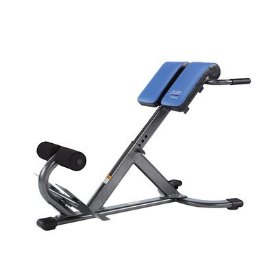 Pure Fitness Hyperextension Bench, Blue/Black front-946368