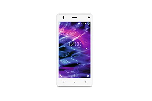 Medion E5001 MD99206 Smartphone (12,7 cm (5 Zoll), 3G, 8 Megapixel Kamera, Android 5.0) weiß