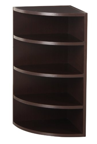 Pre-eminent 328009 Modular Corner Radius Cube Storage System, Espresso