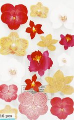 Martha Stewart Crafts - Glossary Glittered Stickers - Orchid
