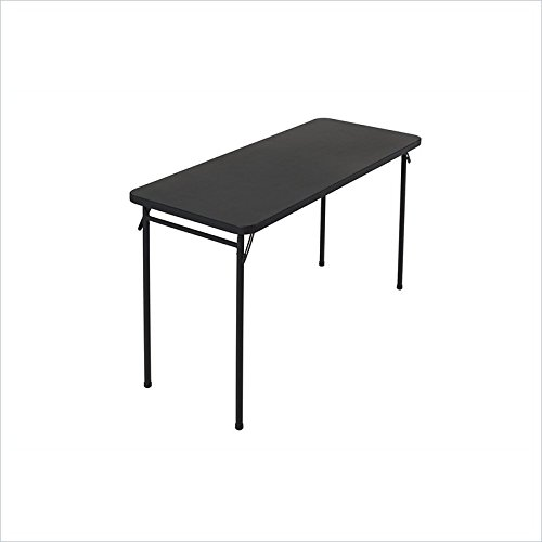 Cosco Abs Top Folding Table, 20 By 48-Inch, Black