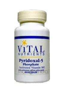 Pyridoxal 5 Phosphate 50 mg 90 Capsules by Vital Nutrients