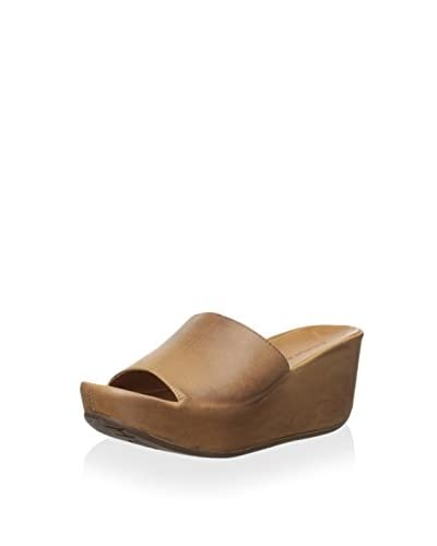 Chocolat Blu Women's Marly Leather Covered Platform Wedge  [Camel]