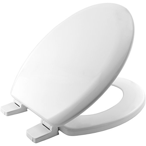 Bemis 5000AR Chicago Moulded Wood Toilet Seat with Plastic Hinges - White