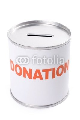 Wallmonkeys Peel and Stick Wall Decals - Donation Box - 24