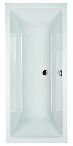Acryl-Duobadewanne Cubo | Große Badewanne | 170 x 75 cm | Weiß | Wanne | Badewanne | Bad | Badezimmer | Acryl | Komfort
