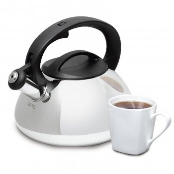 Mr. Coffee Harpwell Whistling Tea Kettle, 2-Quart (Best Selling Tea Kettle compare prices)