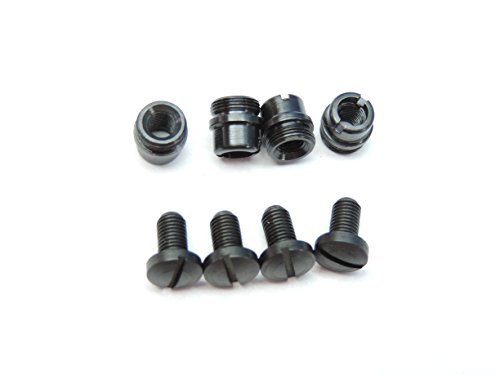 LOT OF 4 OVERSIZE Bushings & 4 Black Grip Screws OS O/S ... M1911 1911 Clones 1911A1 Fits these and all other standard 1911 .45 .38 Super & 9mm: Colt Kimber Ace Ruger Smith & Wesson S&W Remington Ed Brown Springfield Taurus Tactical Solutions Sig Sauer Nighthawk Wilson Combat Les Baer Rock Island Armscor STI Para Bul Dan Wesson... (Oversized Bushing compare prices)