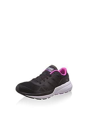 adidas Zapatillas Cloudfoam Flow W (Negro / Fucsia)