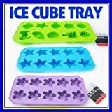 3 Silicone Ice Tray Star Shaped Cube Mold