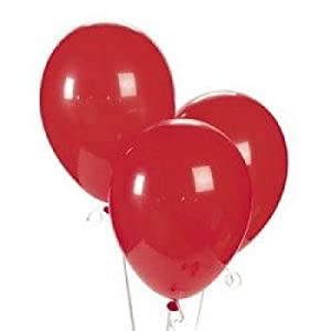 "11"" Ruby Red Latex Balloons (2 Dozen) - BULK by Oriental Trading Company"