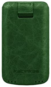 Katinkas 402163 Premium Leather Case for Giorgio Armani Samsung Galaxy S Creased - 1 Pack - Retail-Packaging - Green