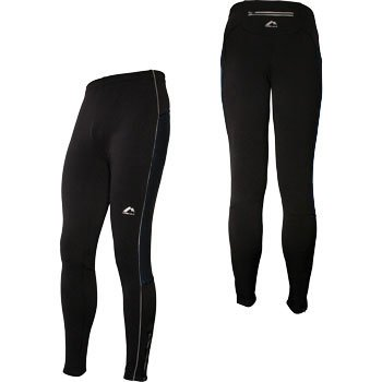 More Mile Montreal Thermal Plain Black Running Tights